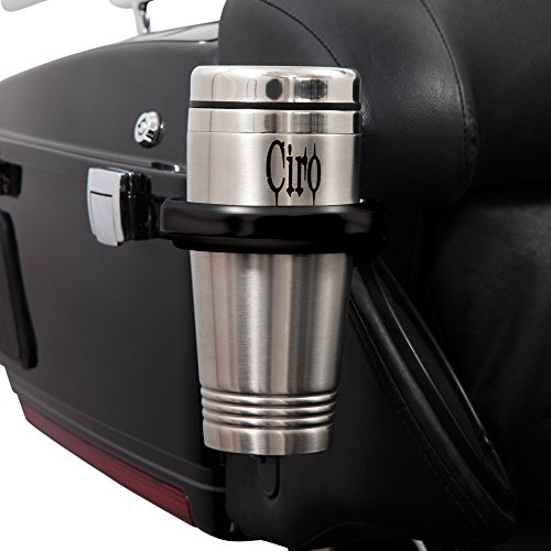 Ciro Black Cup Holder for Harley - Passenger Mount 98-13' (Right or Left) 50721