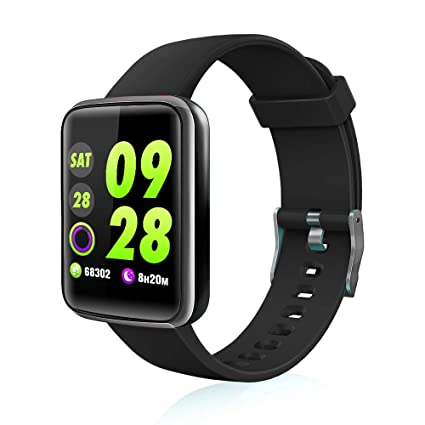 Chriffer Smart Watch, IP67 Waterproof Smartwatch with All-Day Heart Rate & Blood Pressure Monitor, Running GPS Tracker Sport Band Pedometer