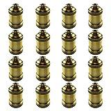 AAF Antique Light Socket Brass, Keyless, Medium Base, Pack of 16