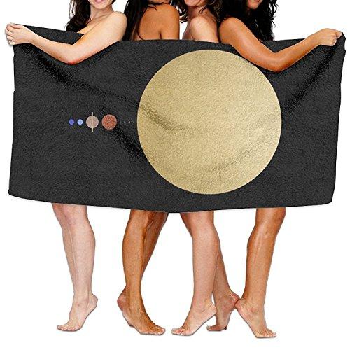 NFHRRE SOLAR SYSTEM Beach Towels Ultra Absorbent Microfiber Bath Towel Picnic Mat For Men Women Kids 31''x51'' by NFHRRE