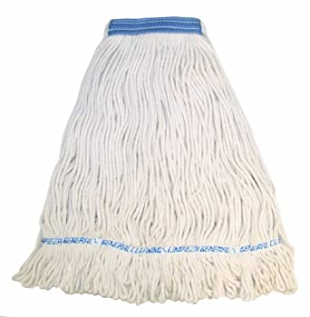 """Wilen A11114, E-Line Looped End Wet Mop, X-Large, 1-1/4"""" Tape Band, Natural (Case of 12)"""