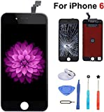 Wireless : Compatible with iPhone 6 Screen Replacement (Black),LCD Display & Touch Screen Digitizer Frame Assembly Set with 3D Touch and Repair Tools