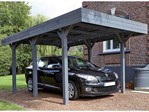 Madeira Louison – Marquesina de aparcamiento para 1 coche, madera ...