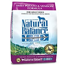 Dick Van Patten's Natural Balance Limited Ingredient Diets Sweet Potato and Venison Formula Dry Dog Food, 13-Pound Bag