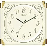 Ajanta Quartz Wall Clock with Square Dail Shape 387 Ivory For Office and Home