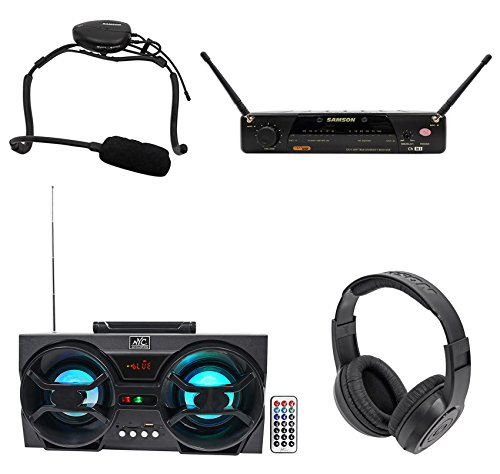 Samson Airline 77 Wireless Fitness Aerobics Headset UHF Microphone - System Headset Uhf 77 Wireless