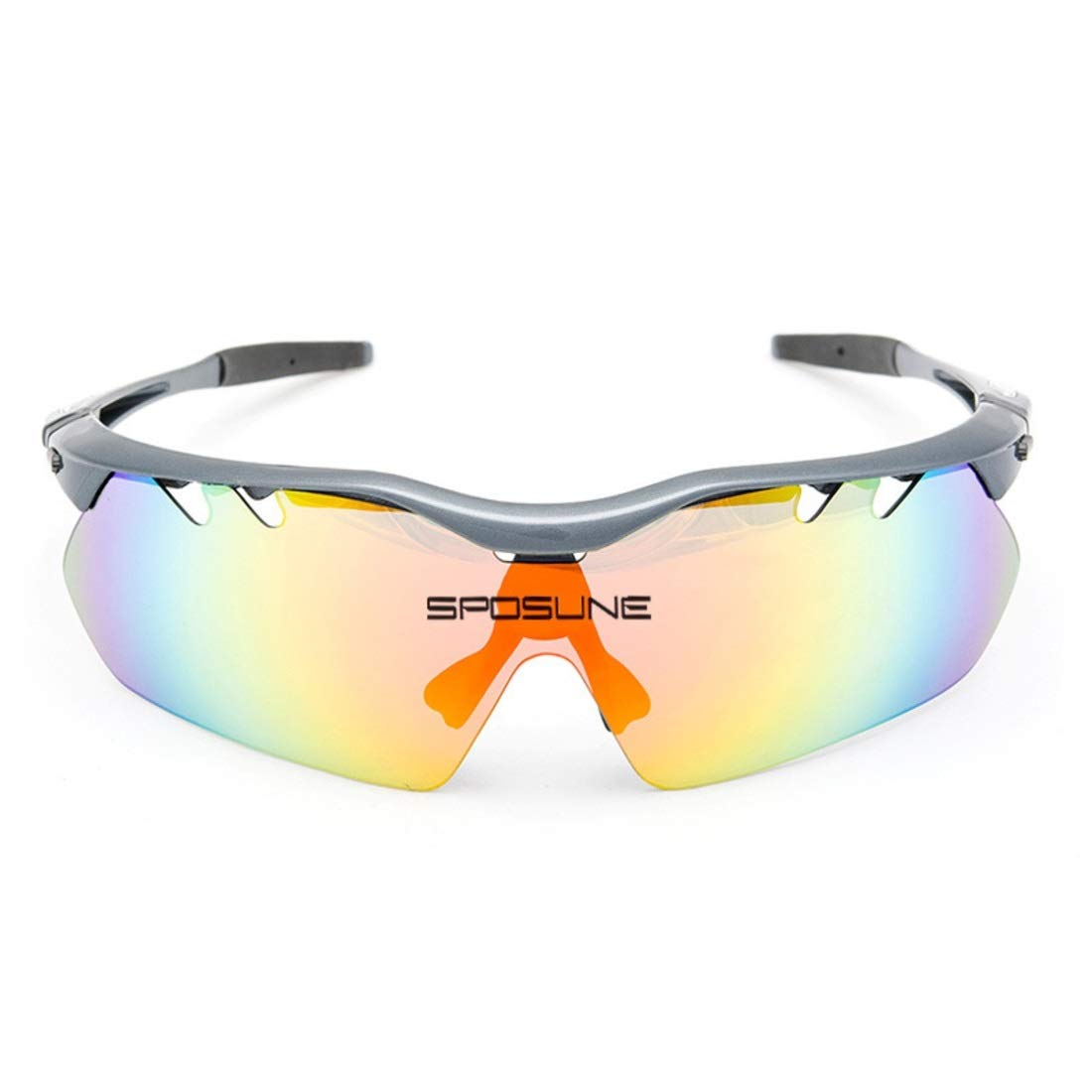 BAOYIT Riding Glasses Outdoor Mountain Bike Eye Protection Sports Sunglasses for Women Men (Color : Gray) by BAOYIT