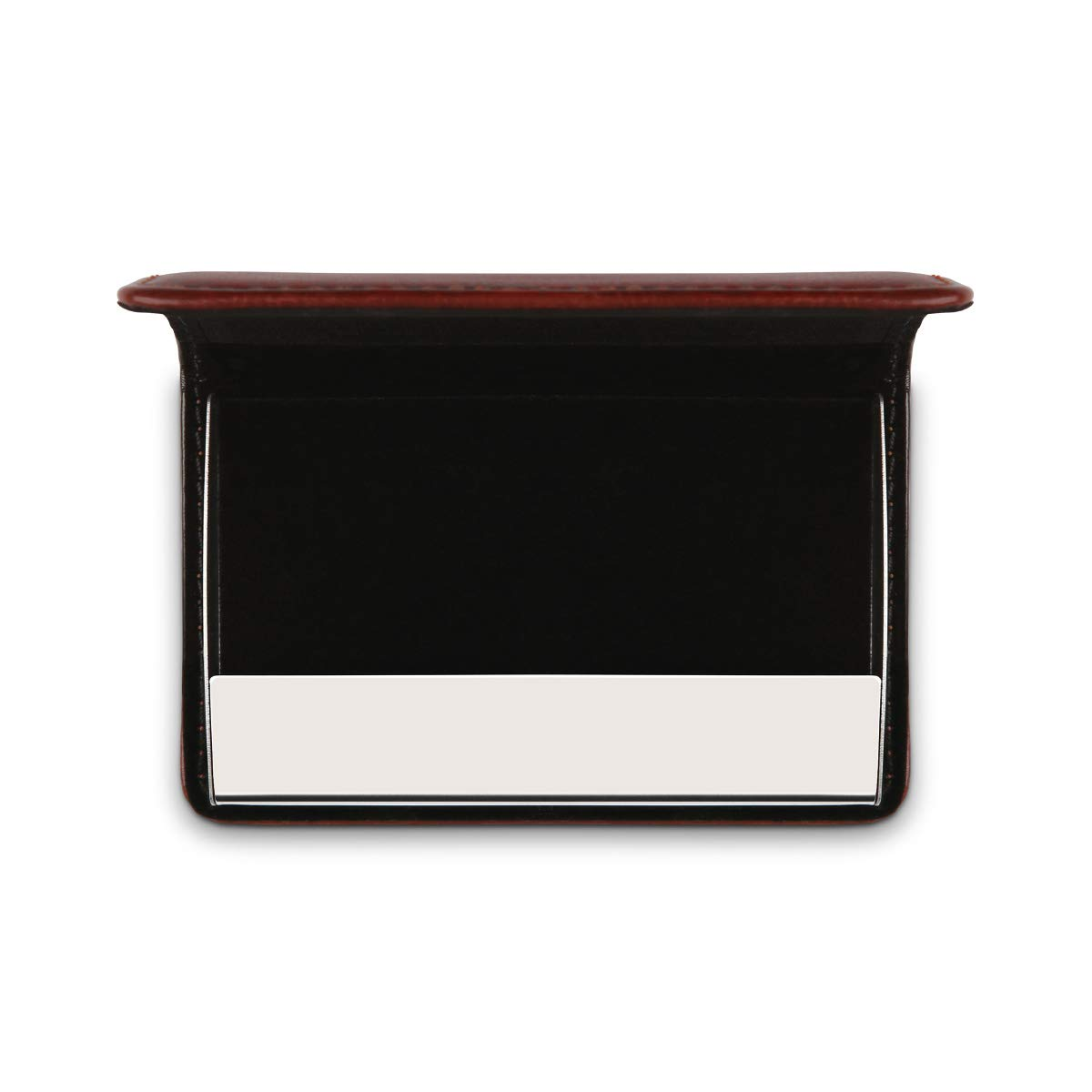 Eigene Gravur Visitenkartenetui aus dickem und hochwertigen PU-Leder mit individueller Gravur Magnetverschluss und Gummi Innenfutter 10x7 cm Pink