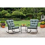 Better Homes and Gardens Sturdy Seacliff 3-Piece Rocking Chair Bistro Set
