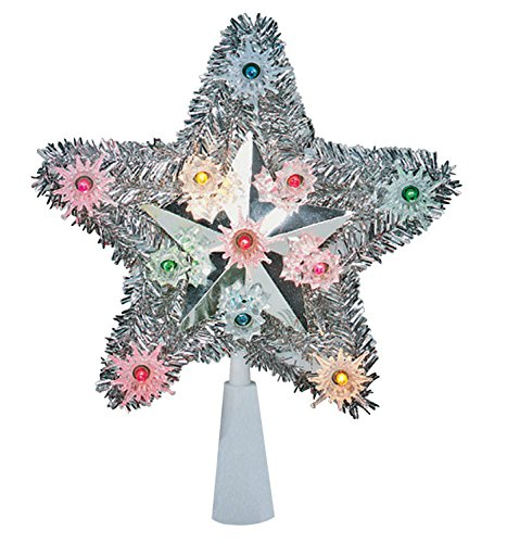 Celebrations 4951-71 Tinsel Star Tree Top assorted gold or silver (Gold Tinsel Star)