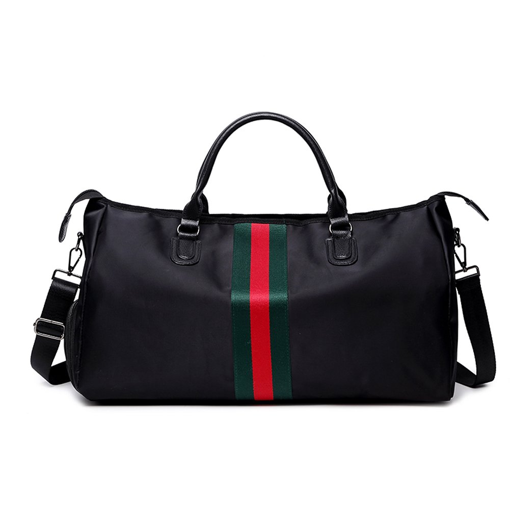 Olyly Designer Nylon Gym Bag, Fashion Durable Duffel Bags, Waterproof Sports Gym Bag with Shoe Compartment