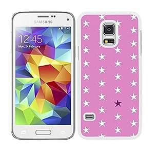 Funda carcasa para Samsung Galaxy S5 Mini diseño ilustración estampado estrellas de mar blancas borde blanco