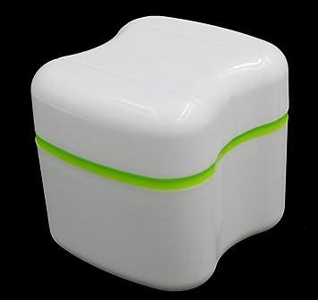 Gotd New Denture Bath Box Case Dental False Teeth Storage