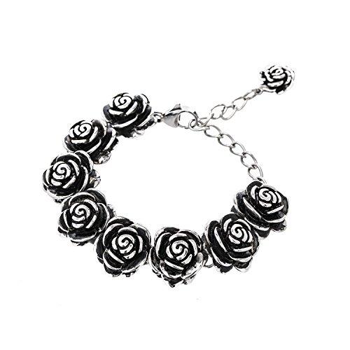 Designer Stainless Steel Rose Bracelet For Women and Girls - 5 with 3 extender