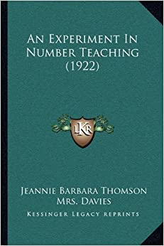 Book An Experiment in Number Teaching (1922)