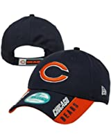 NFL Chicago Bears Text Visor, Blue, OSFA