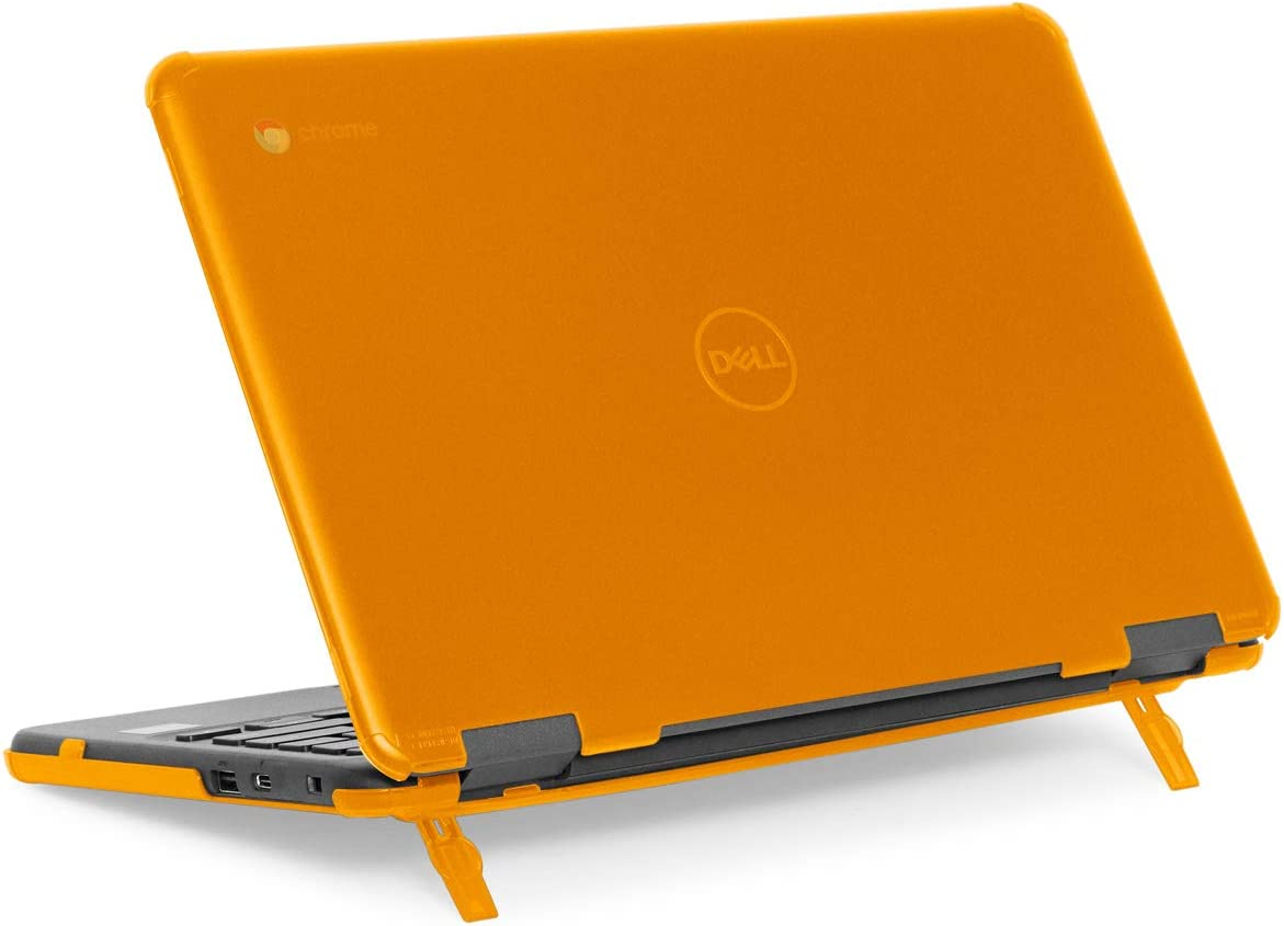 """mCover Hard Shell Case for 11.6"""" Dell Chromebook 11 3100 Education non-2-in-1(180-degree Hinge) Laptop (NOT Compatible with 3181/3100 2in1, 210/3120/3180/3189/5190 Series) - Dell-C3100-non2in1 Orange"""