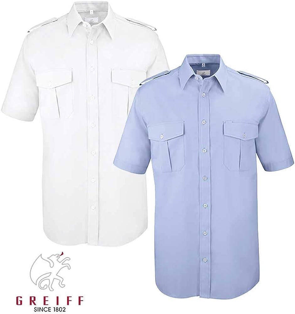 Greiff Classixx Hombre Camisa piloto 6603 manga corta - algodón, blanco, 40% poliéster 45% poliéster 60% algodón 55% algodón, hombre, 4XL / 49/50: Amazon.es: Ropa y accesorios