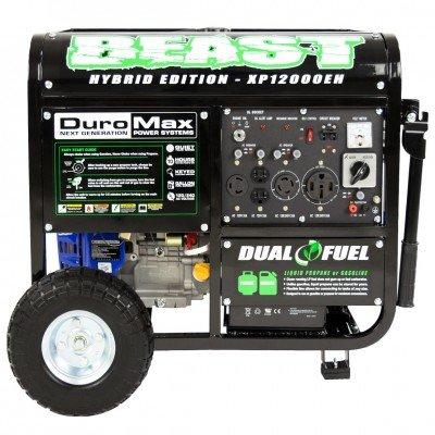 Duromax XP12000EH 12000 Watt Dual Fuel Generator W Elec. Start 50-State (Ford 2700 Psi Gas Pressure Washer Kit)