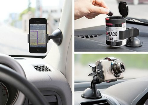 DZT1968 Universal adjustable multi-angle asssemble Car Windshield Mount Holder For iPhone 5S 5 4S MP3 iPod GPS (Black)