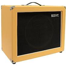 Seismic Audio-12-Inch Guitar Speaker Cabinet Empty-7 Ply Birch-1x12 Speakerless Cab-Orange Tolex-Black Cloth Grill-Front or Rear Loading Options