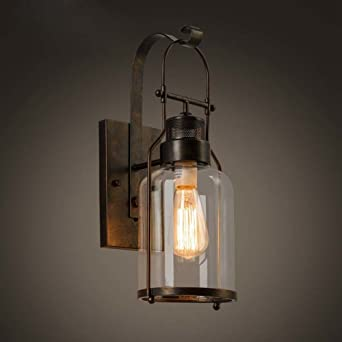 Baycheer hl422437 industrial country style 18 h single light baycheer hl422437 industrial country style 18 h single light wall sconces wall lighting with mozeypictures Choice Image