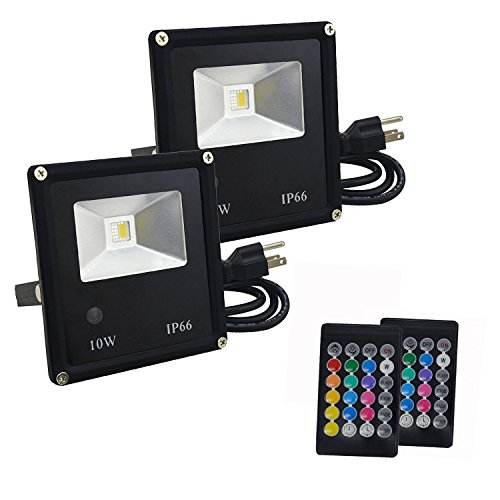 Led 10W Rgb Colour Changing Flood Light Ip65 in US - 3