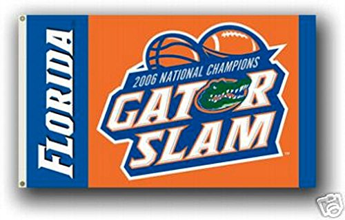 Florida Gators GATOR SLAM 3x5 Flag Banner 2006 Champions Football Basketball University of - Florida Gators 2006 Football