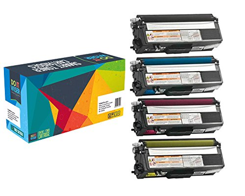Do it Wiser Compatible High Yield Toner Cartridges for Brother TN315 HL-4140CN HL-4150CDN HL-4570CDW MFC-9460CDN MFC-9560CDW MFC-9970CDW 4-Pack