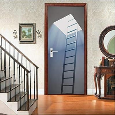 OHEHE Etiqueta de puerta Claraboya PVC Adhesivo Fotográfico ...