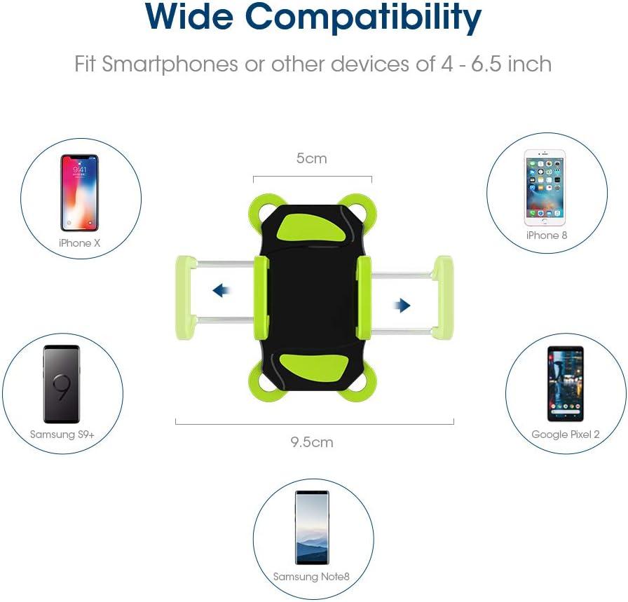 h/ält Handys bis 8,9/cm breit, Roam Universal Premium Bike Phone Halterung f/ür Motorrad//Bike Lenker passt f/ür iPhone 6S//6S Plus Galaxy S7 verstellbar iPhone 7//7/Plus
