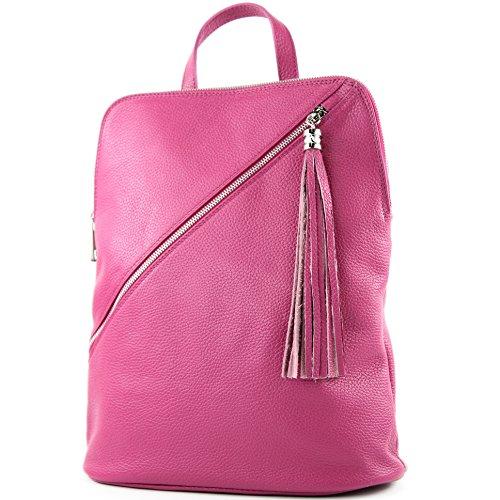 modamoda de - Made in Italy - Bolso mochila  para mujer T161 Pink