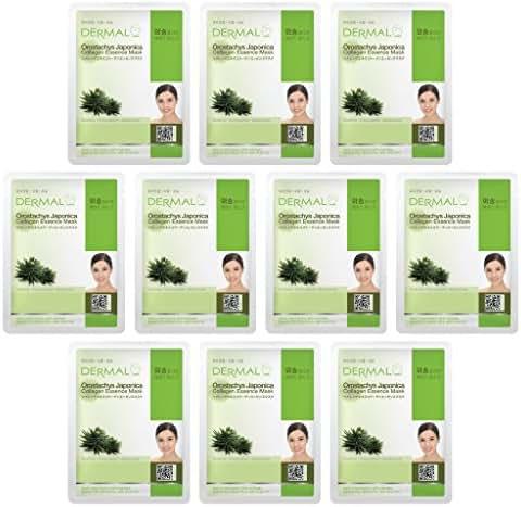 DERMAL Collagen Essence Facial Mask Sheet 23g Pack of 10-B (Orostachys Japonica)