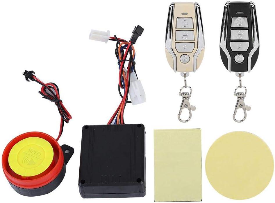 Sistema de Alarma para Motocicleta Sistema de Seguridad antirrobo de 12 V Motor de Control Remoto para Motocicleta Alarma de Seguridad para tranv/ía
