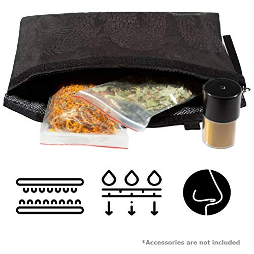 Smell Proof Bags - Secret Stash Container Dog Tested | Charcoal Bags for Odor | Odor Proof Bag Herb Keeper | Scent Proof Bag | Pipe Pouch | Smell Eliminator - Herb Cans