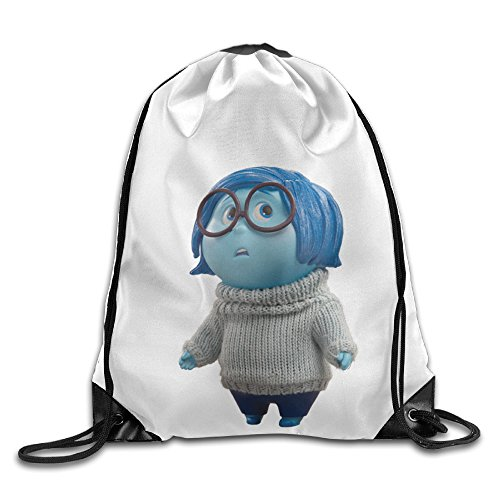 Bekey Inside Out Sadness Character Drawstring Backpack Sport Bag For Men & Women For Home Travel Storage Use Gym Traveling Shopping Sport Yoga Running
