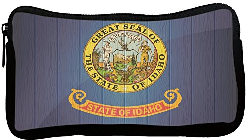 Rikki Knight Idaho Flag on Distressed Wood Neoprene Penci...
