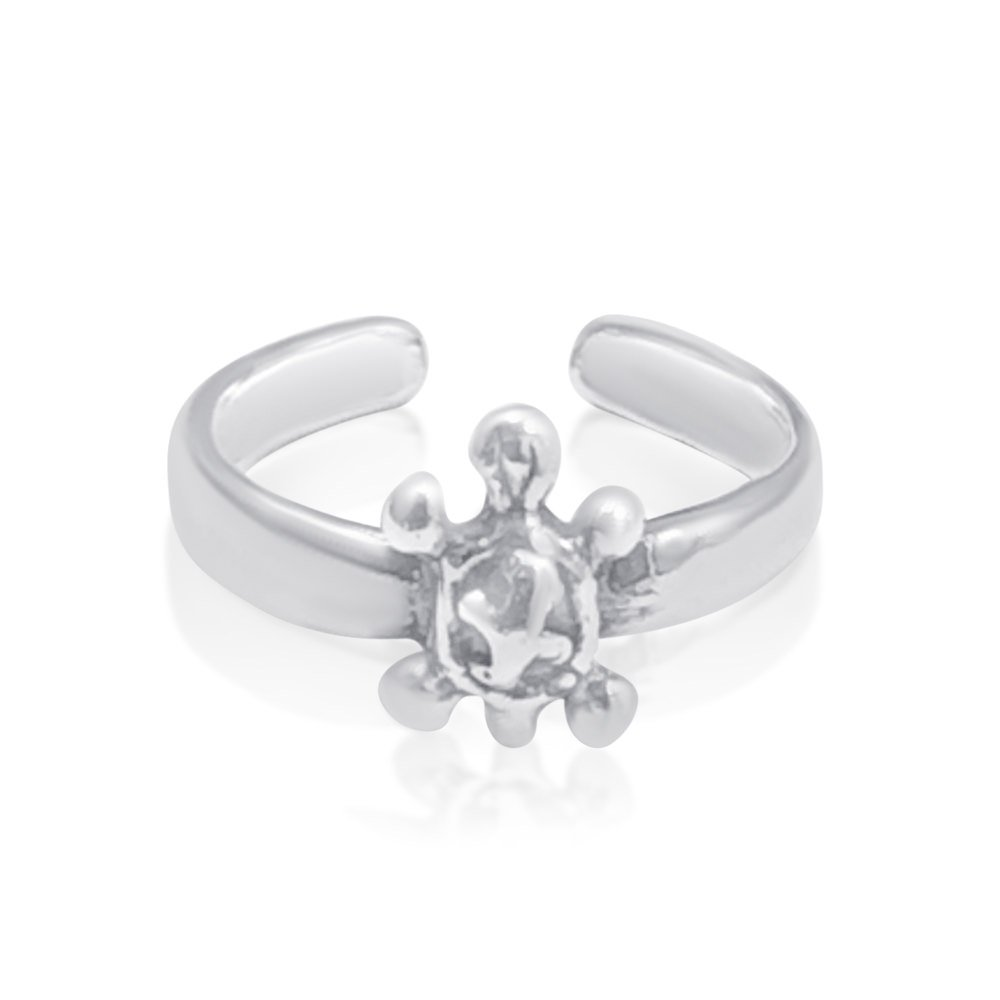 Sterling Silver 925 Adjustable Toe Ring Turtle Design Nickel Free & Tarnish Free
