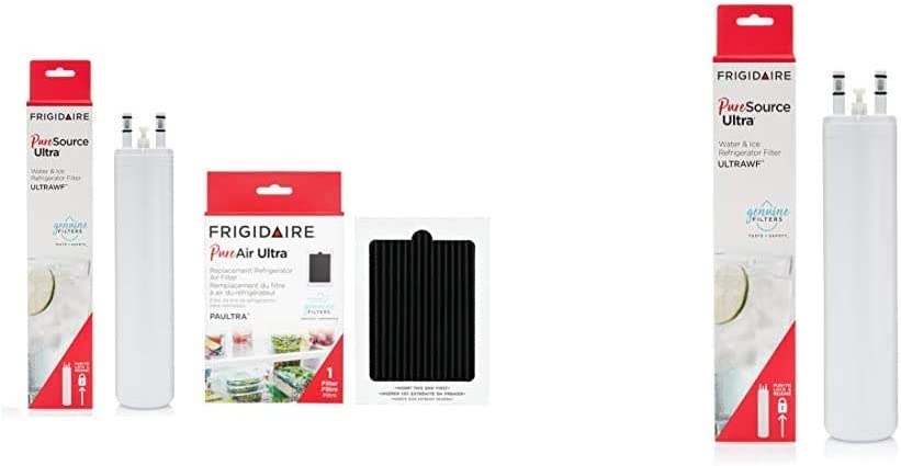Frigidaire FRIGCOMBO ULTRAWF Water Filter & PAULTRA Air Filter Combo Pack & ULTRAWF PureSource Ultra Water Filter, Original, White, 1 Count