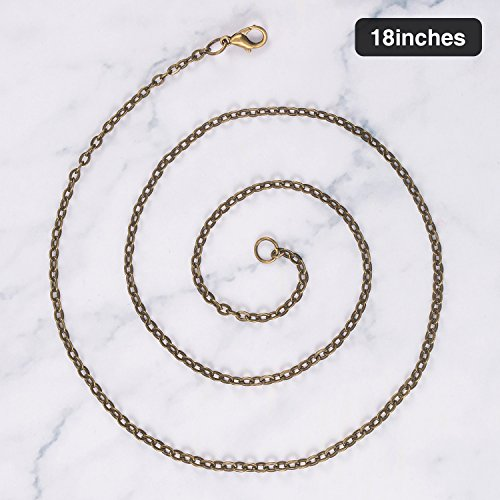 20 Inch TecUnite 24 Pack Bronze Link Cable Chain Necklace DIY Chain Necklaces