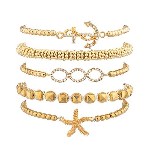 Lux Accessories Nautical Arm Candy Bracelet -