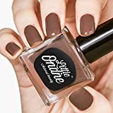 Little Ondine Water-based Peel off Odor Free Quick Dry Non Toxic Natural Nail Polish-Solid Chocolate 0.36 Fl Oz(L036-Chai Latte)