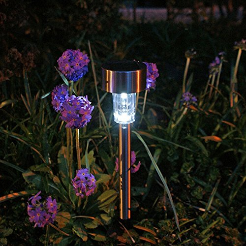 ME 12-Packs LED Solar Garden Path Lights, Low Voltage Stainless Steel Outdoor For Pathway Driveway Patio Lawn Walkway Yard by Mansion Electronics (Image #7)