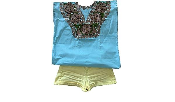 Blusa mexicana bordada hecha a mano, ropa mexicana original, ropa bordada a mano: Amazon.es: Ropa y accesorios