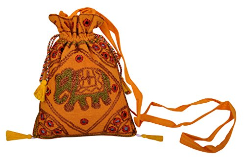 Indian Elefante design Embroide & tracolla decorativo borsas set di 50 pezzi