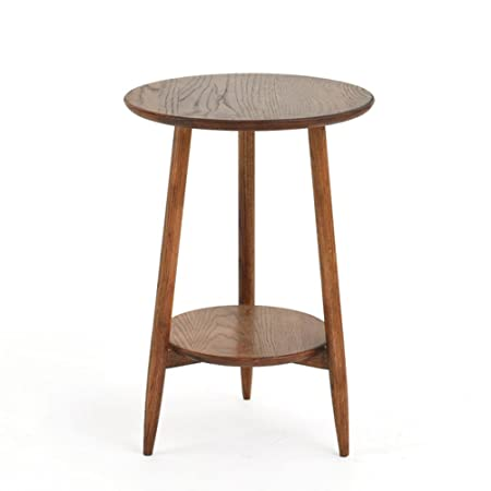 C T G Solid Wood Small Coffee Table Round Small Table Living Room Side  Cabinet Nordic Bedside Table