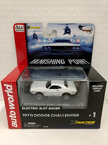 Scale Electric Slot Car - Auto World SC321 Vanishing Point 1970 Dodge Challenger HO Scale Electric Slot Car