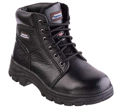 Skechers Work Relaxed Fit Workshire Peril ST Womens Steel Toe Boots Black 9.5 W