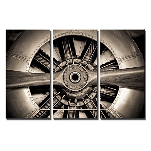 KLVOS - 3 Pieces Retro Canvas Wall Art Propeller A