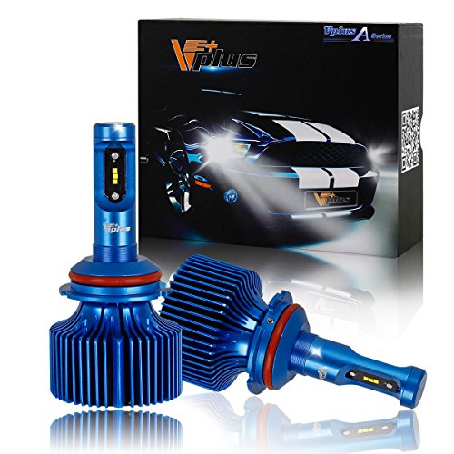 Vplus A Series LED Headlight Bulbs-9004 HB1 90W 8,400LM 6500K White Seoul w/No Fan Headlamp Adjustable Light Pattern Headlight Conversion Kit, Hi/Lo beam headlamp, Dual Beam Head Light (2pcs/set)